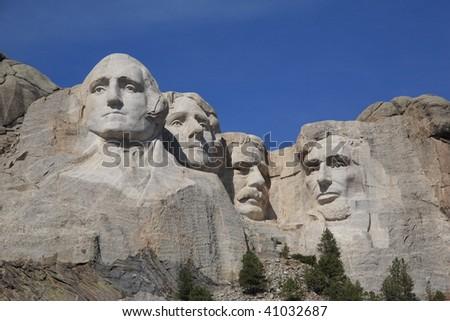 Mt. Rushmore in South Dakota - stock photo