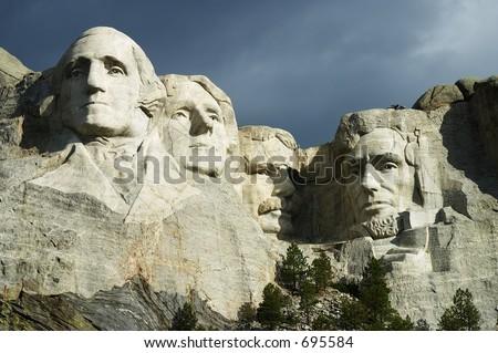 Mt. Rushmore, USA - stock photo