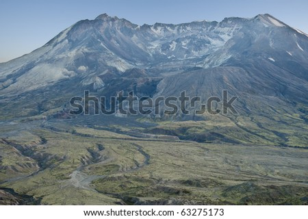 Mt. Saint Helens in late evening light - stock photo