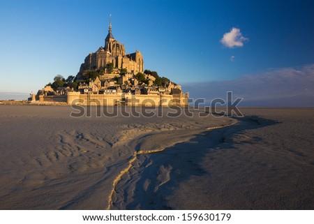 Mt Saint Michel  in France  - stock photo