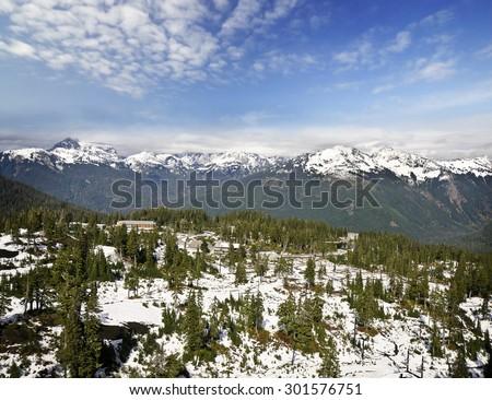 Mt Shuksan Valley  - stock photo