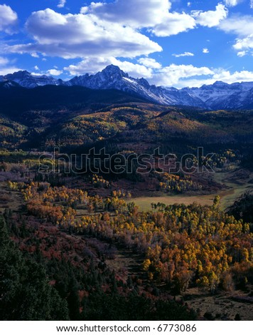 Mt. Sneffels in the Uncompahgre National Forest, Colorado. - stock photo