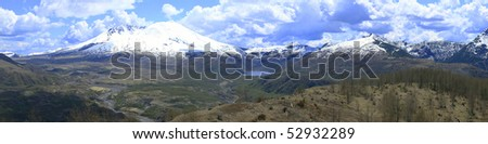 Mt. St. Helen's national volcanic monument park panorama. - stock photo