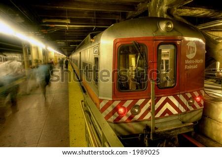 MTA - train ,NEW YORK ,Grand Central - stock photo