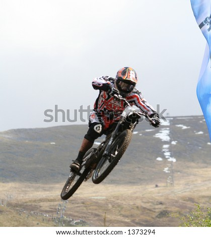 MTB World Cup 2006 at Fort William Scotland - Downhill Final - stock photo