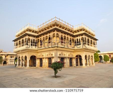 Mubarak Mahal within the City Palace of Jaipur, Rajasthan, India - stock photo