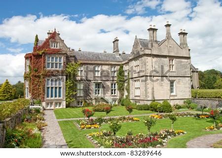 Muckross House and gardens in National Park Killarney, Ireland. - stock photo
