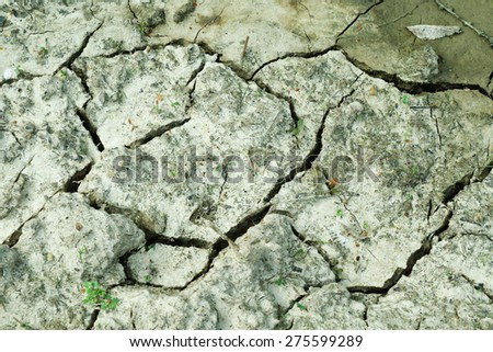 Mud dry background or texture waterless cracked ground - stock photo