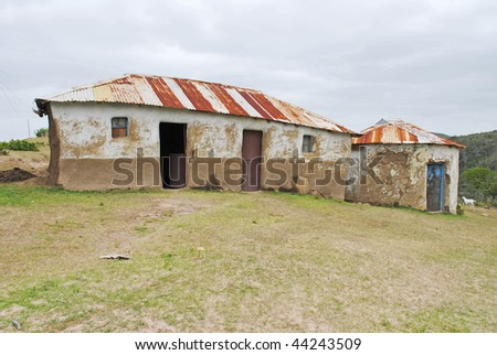Mud House, Rural Africa, Eastern Cape, South Africa - stock photo