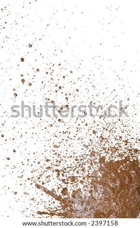 mud splatter background - stock photo