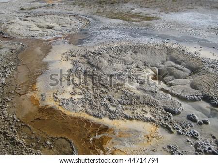Mud Volcano at Yellowstone - stock photo