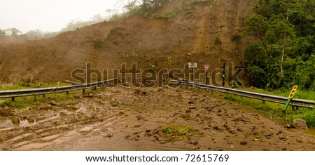 mudslide in Costa Rica - stock photo