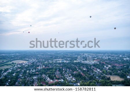 MUENSTER, GERMANY - AUGST 24: Hot air balloon festival on August 24, 2013 in Muenster, Germany