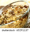 muesli of oats with raisin - stock photo