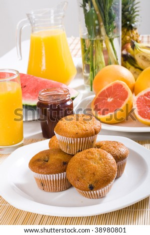muffin for breakfast - stock photo