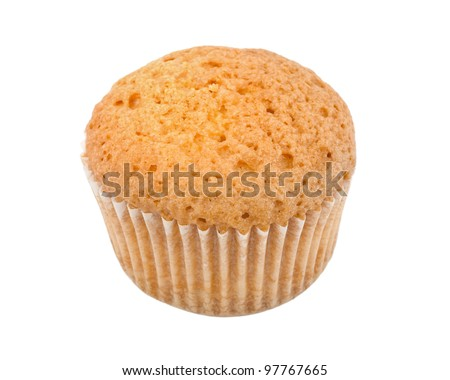 muffin freshly baked isolated on the background - stock photo