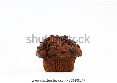 Muffin isolated on white - stock photo