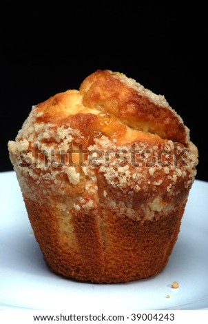 Muffin on a plate