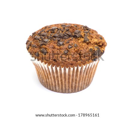Muffin on perfect white background