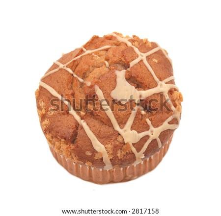 muffin over white - stock photo