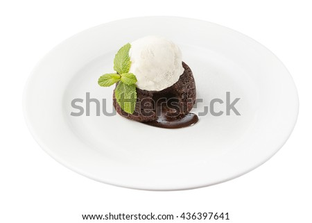 muffin with an ice cream ball
