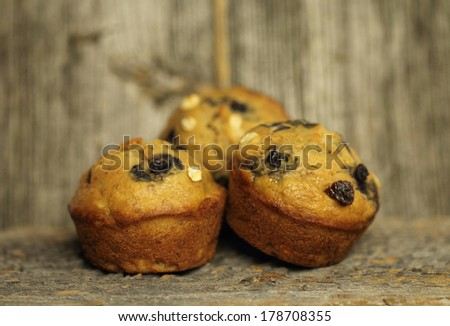 muffins natural - stock photo