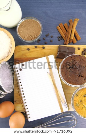 Muffins recipe - stock photo
