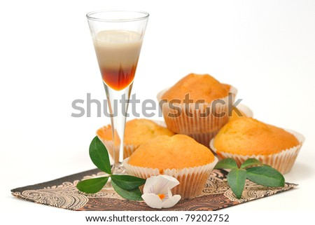 muffins with coffee liqueur