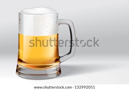 Mug of beer - stock photo