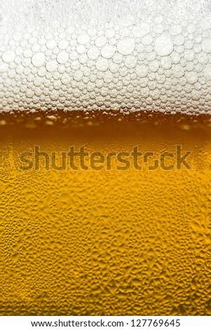 Mug Of Beer As Background - stock photo