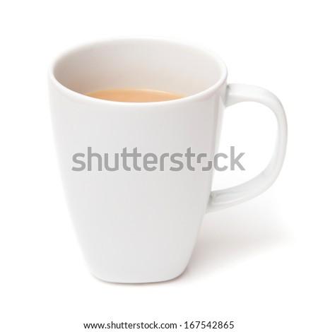 Mug of tea isolated on a white studio background - stock photo