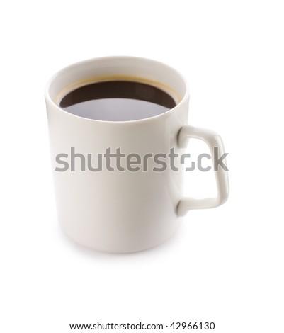 mug with coffee - stock photo