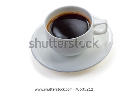 Mug with instant coffee - stock photo