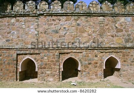 mughal architecture, lodhi gardens, delhi, india - stock photo