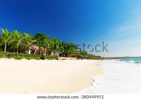 Mui Ne White Sandy Beach, Vietnam. Asia  - stock photo