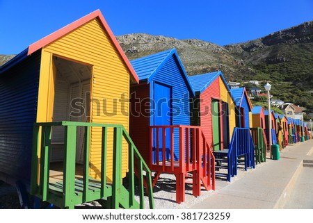 muizenberg cape town cabins bathing tourists south africa