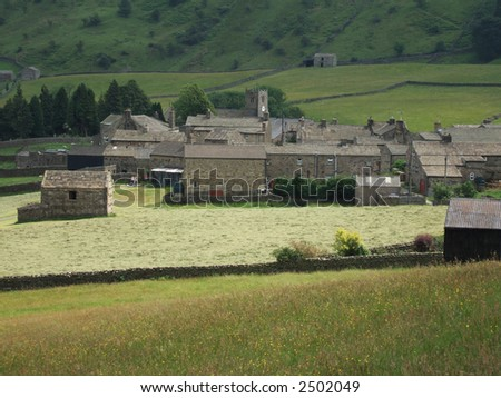 Muker village in swaledale, Yorkshire Dales, Northern England