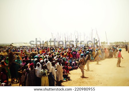 Southern sudan stock images royalty free images vectors mukjar southern sudan september 16 2011 unidentified people in refugee camps sciox Images