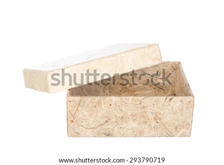 Mulberry paper box isolated on white background