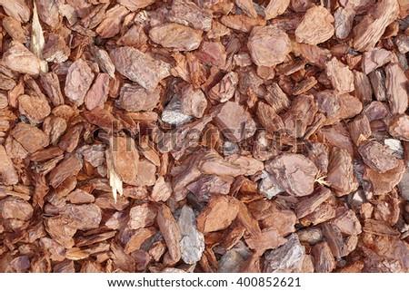 mulch bark texture background - stock photo