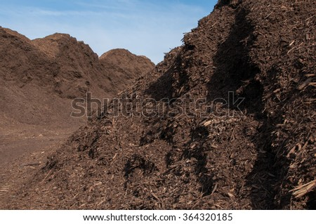 Mulch Farm - stock photo