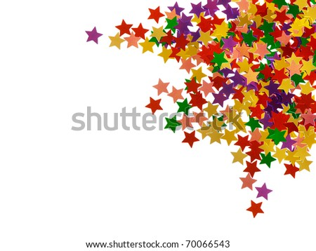 Mulicolored stars pattern - isolated on white background - stock photo