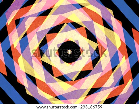 Mulicoloured striped diamond shapes background - stock photo
