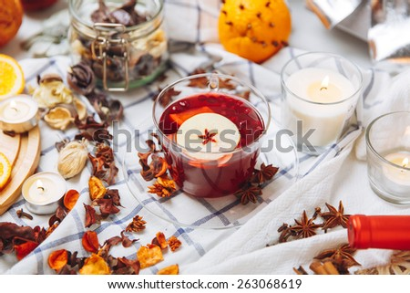 mulled wine - stock photo
