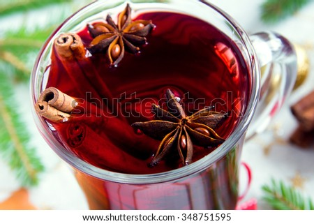 Mulled wine for Christmas and winter holidays