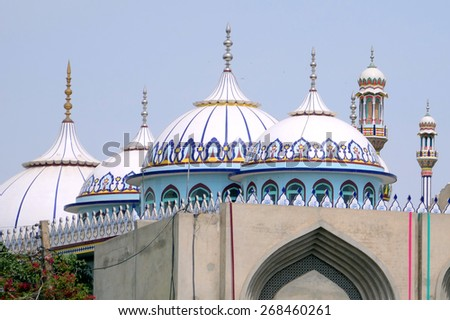 MULTAN, PAKISTAN   MARCH 27 2015: Jamia Masjid and Madrasa stands on the ancient fort of Multan. - stock photo