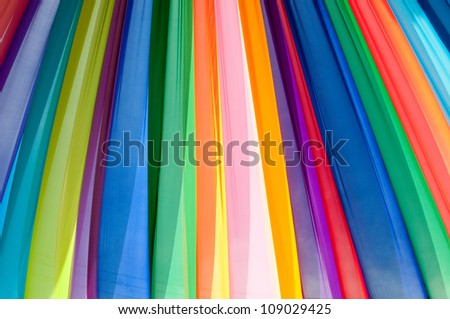 Multi and vivid color fabric - stock photo