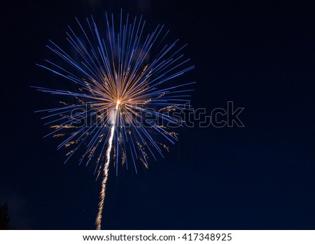 Multi-Color Fireworks Background - stock photo