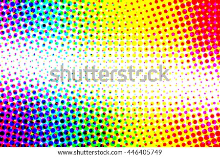Multi color half tone pattern abstract background