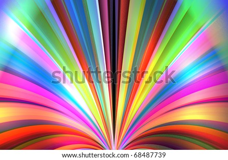 Multi color  in a row - stock photo